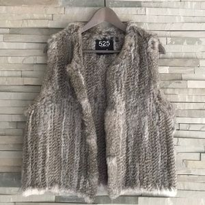 525 America rabbit fur vest